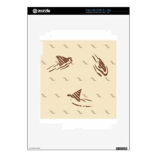 Tiburones del vintage del Grunge 3 aletas Calcomanías Para iPad 2