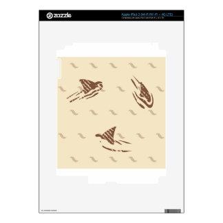 Tiburones del vintage del Grunge 3 aletas iPad 3 Skin