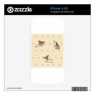Tiburones del vintage del Grunge 3 aletas iPhone 4S Calcomanía