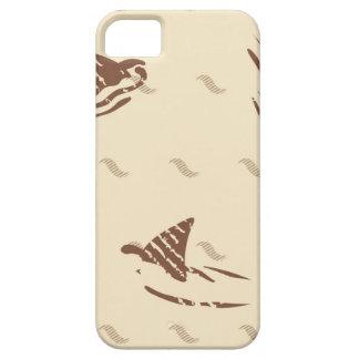 Tiburones del vintage del Grunge 3 aletas iPhone 5 Carcasa