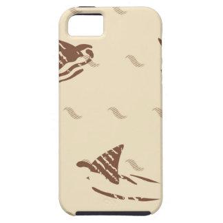 Tiburones del vintage del Grunge 3 aletas iPhone 5 Carcasas