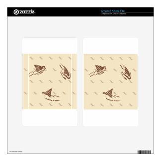 Tiburones del vintage del Grunge 3 aletas Kindle Fire Skins