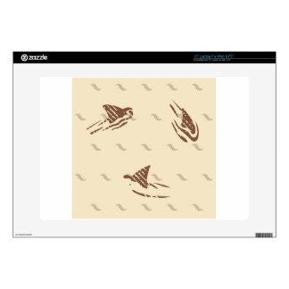 Tiburones del vintage del Grunge 3 aletas Portátil 38,1cm Skin