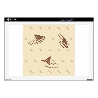 Tiburones del vintage del Grunge 3 aletas Portátil Skins