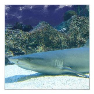 Tiburones en la invitación del arrecife de coral