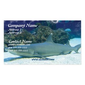 Tiburones en tarjeta de visita del arrecife de cor