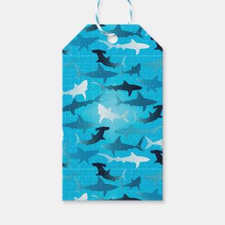 ¡tiburones! etiquetas para regalos