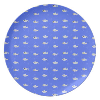 Tiburones lindos platos para fiestas