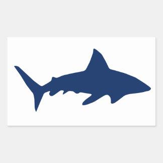 Tiburones/mandíbulas Pegatina Rectangular