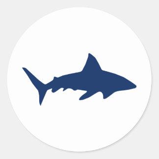 Tiburones/mandíbulas Pegatina Redonda