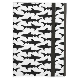 Tiburones - modelo blanco y negro elegante del tib