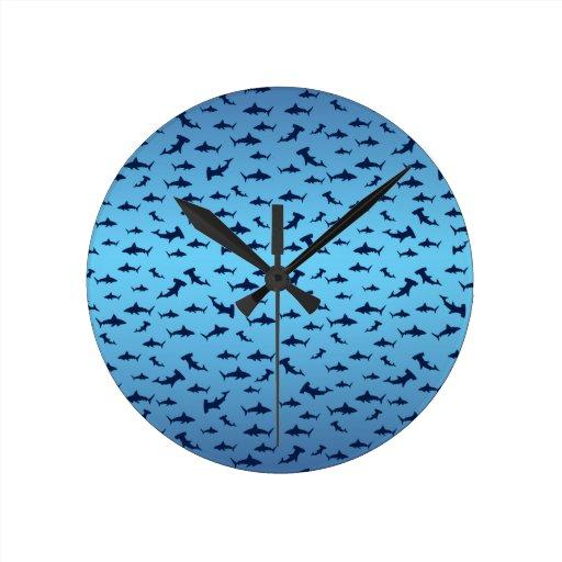 Tiburones Relojes De Pared