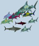 tiburones salvajes, peligro camiseta