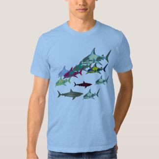 tiburones salvajes, peligro remeras