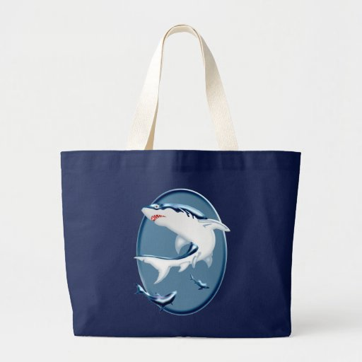 Tiburones subacuáticos amenazadores bolsa de mano
