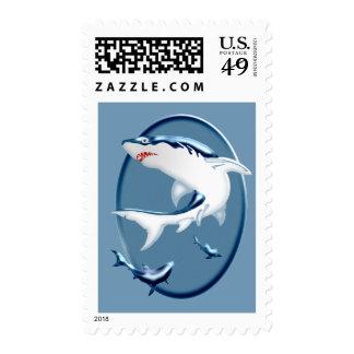Tiburones subacuáticos amenazadores