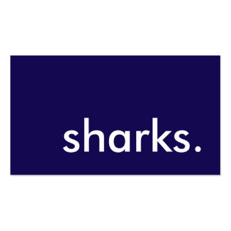 tiburones tarjetas de visita