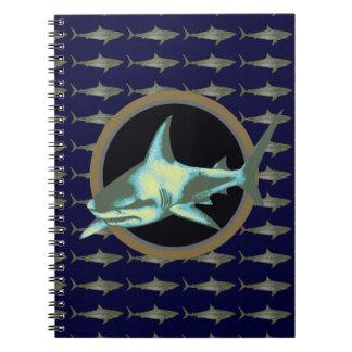 tiburones, tiburón peligroso libretas espirales
