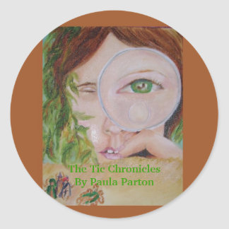 Tic Chronicles stickers. Classic Round Sticker