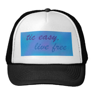 tic easy live free sky .png trucker hat