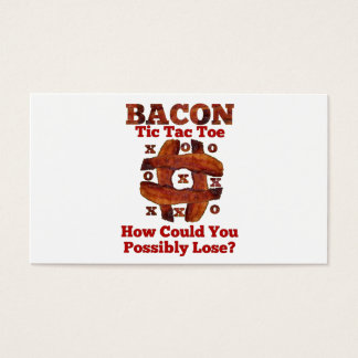 Tic Tac Bacon Business Card