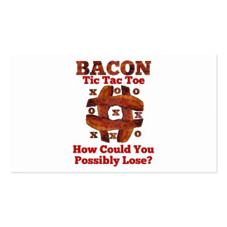 Tic Tac Bacon Business Cards