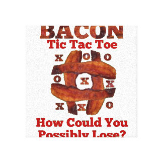 Tic Tac Bacon Stretched Canvas Prints