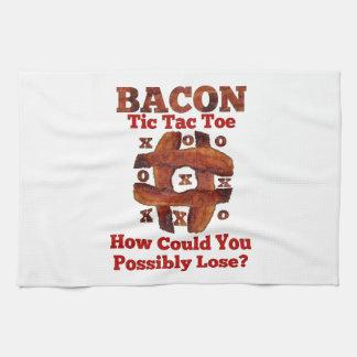 Tic Tac Bacon Hand Towel