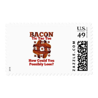 Tic Tac Bacon Postage Stamp