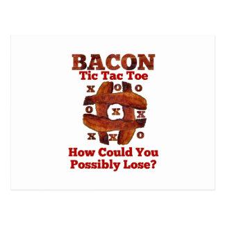 Tic Tac Bacon Postcard