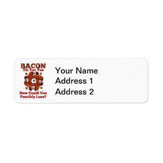 Tic Tac Bacon Return Address Label