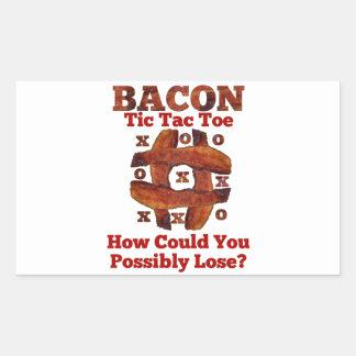 Tic Tac Bacon Rectangular Stickers
