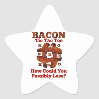 Tic Tac Bacon Star Stickers