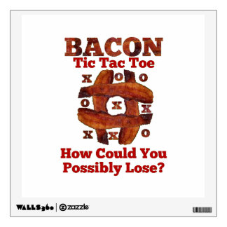 Tic Tac Bacon Wall Decal