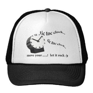 tic tac clock trucker hat