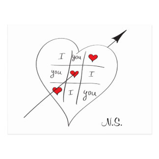 Tic Tac Love Toe Quote love Post Card