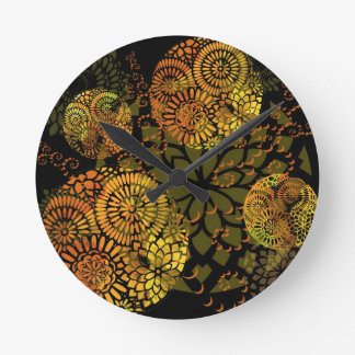 Tic Tac - Mandala Watch - Ether Gold Round Clock