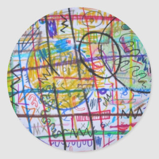 Tic Tac Ohh Classic Round Sticker