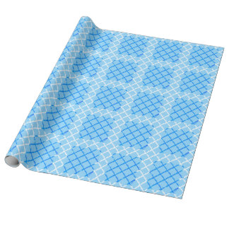 Tic Tac Toe (blue) Pattern Wrapping Paper