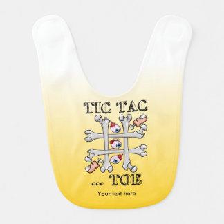 Tic Tac Toe Bones And Toes Baby Bib