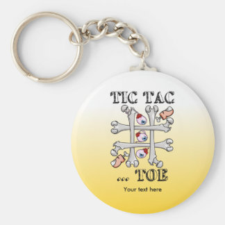Tic Tac Toe Bones And Toes Keychain