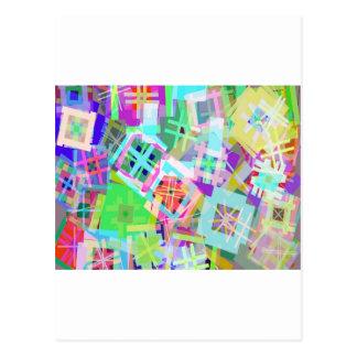 tic tac toe color postcard