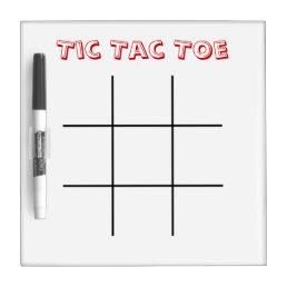 Tic Tac Toe Dry Erase Board