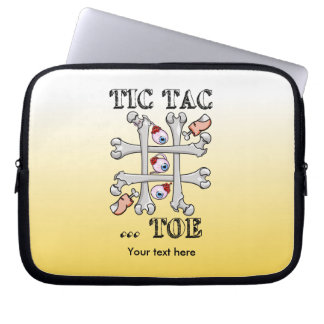 Tic Tac Toe Eyeballs And Toes Laptop Sleeve