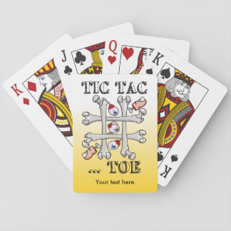 Tic Tac Toe Eyeballs And Toes Playing Cards