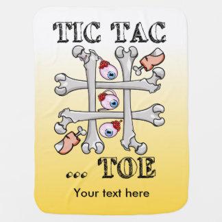 Tic Tac Toe Eyeballs And Toes Stroller Blanket