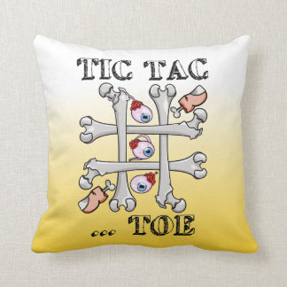 Tic Tac Toe Eyeballs And Toes Throw Pillow