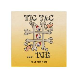 Tic Tac Toe Eyeballs And Toes Wood Wall Art
