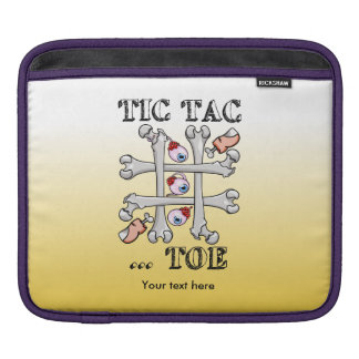 Tic Tac Toe Eyeballs, Toes and Bones iPad Sleeve