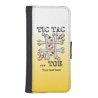 Tic Tac Toe Eyeballs, Toes and Bones Wallet Phone Case For iPhone SE/5/5s